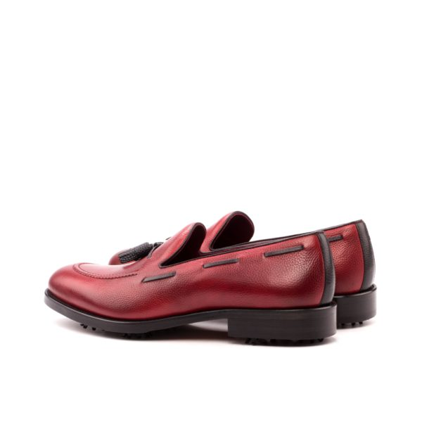 Golf Loafers BUBBA slip on golf shoes red black rear
