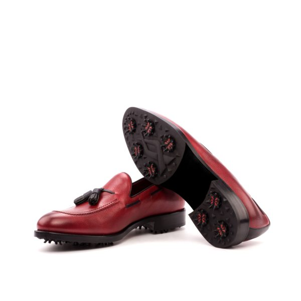 Tessle Loafer Golfing Shoes BUBBA red leather soles