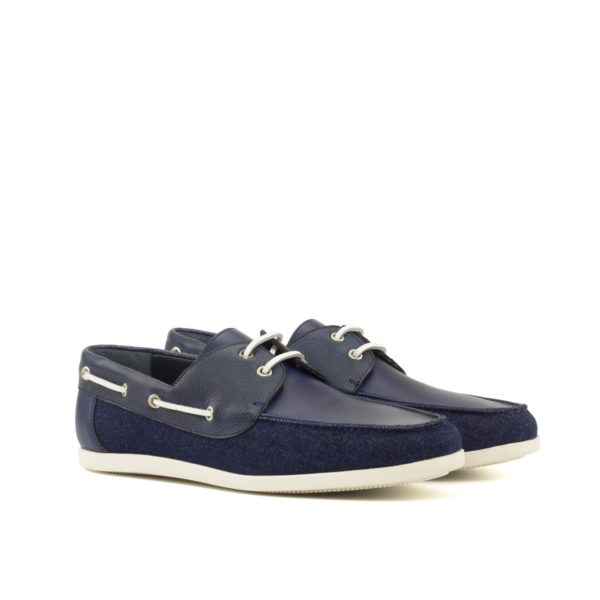 mens boat shoes MARINA denim navy leather