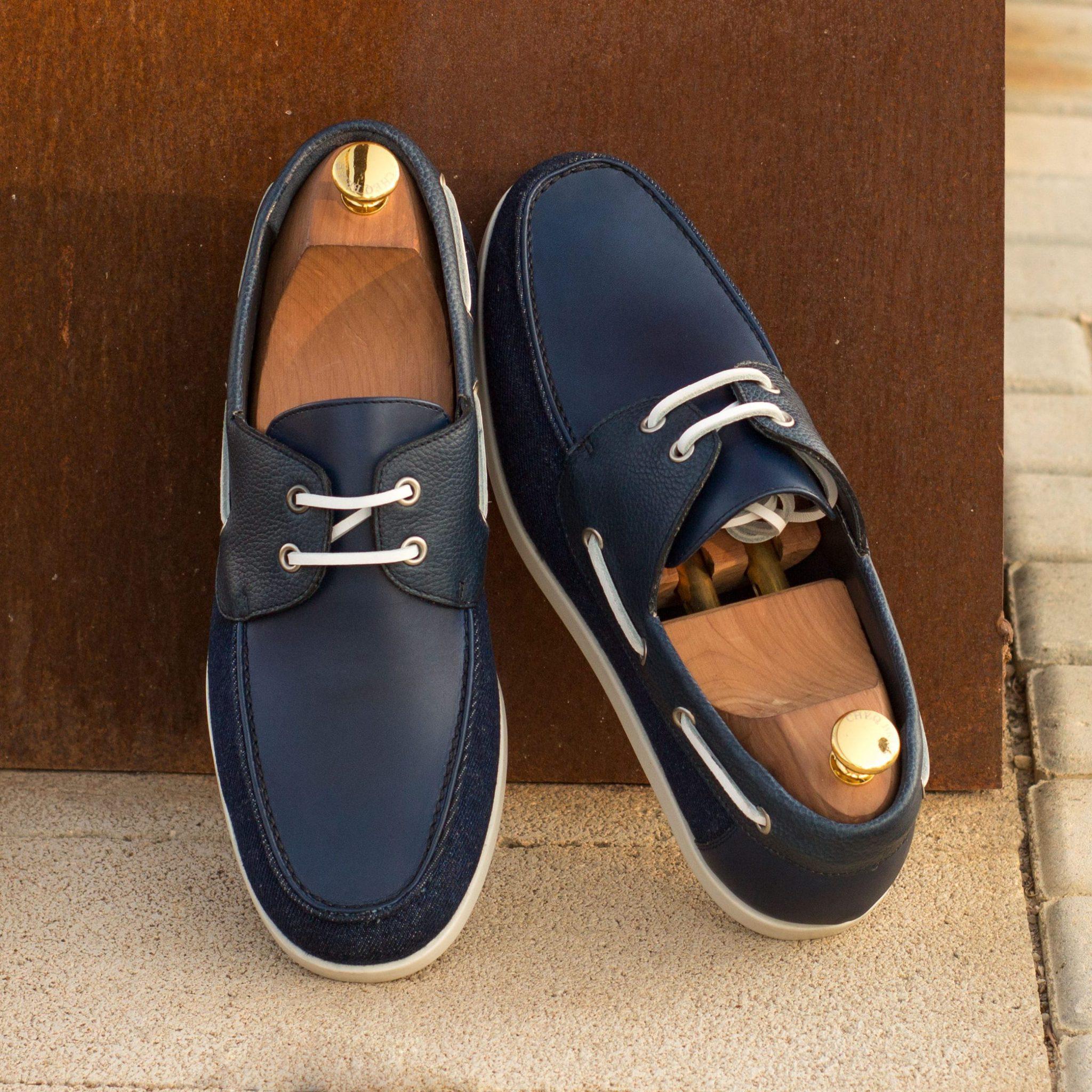 Mens Boat Shoes   MARINA Denim
