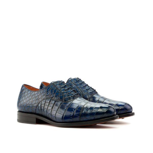 alligator oxfords MURPHY navy blue genuine