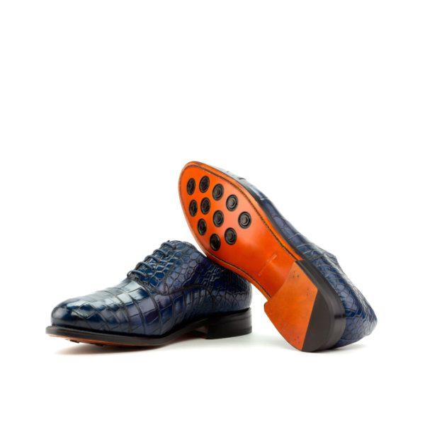 navy lace ups Oxford alligator skin MURPHY soles