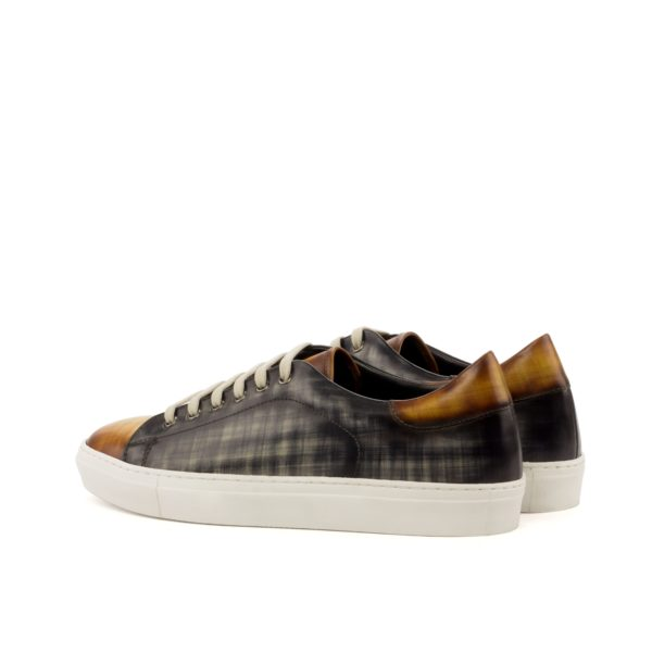 luxury patina leather Trainers Allegri rear