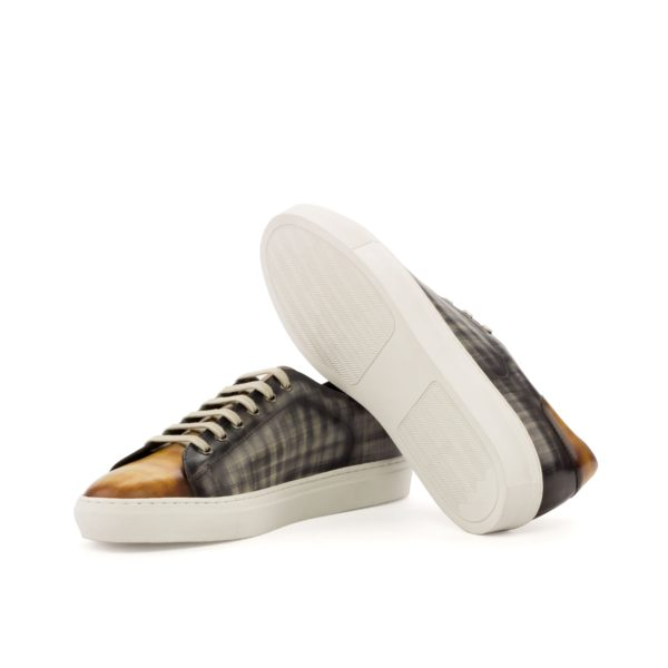 Trainer Allegri luxury patina leather trainers white rubber soles