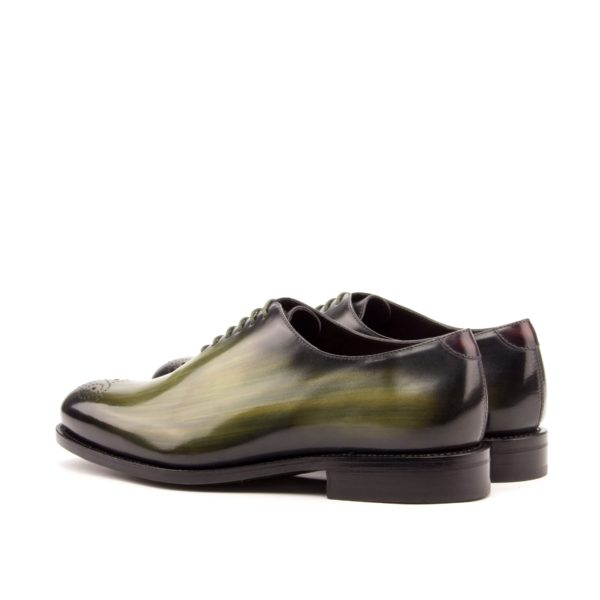 WholeCut green patina shoes ABSINTHE rear