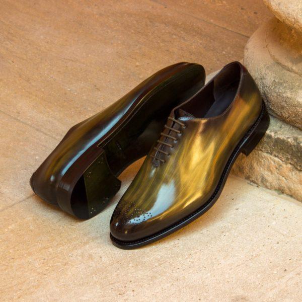 green patina WholeCut shoes ABSINTHE green insitu