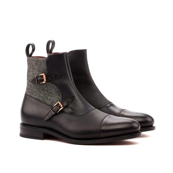double buckle boots PISA black grey