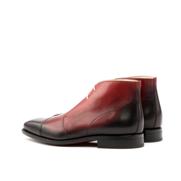 red burnished leather Chukka Boots ROOST rear