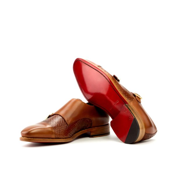 real python Double Monk shoes SANDS goodyear soles