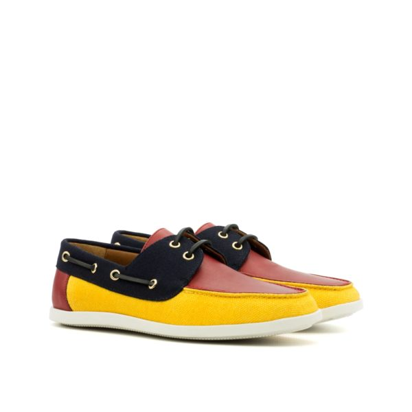 Boat Shoes SQUADRON red navy yellow