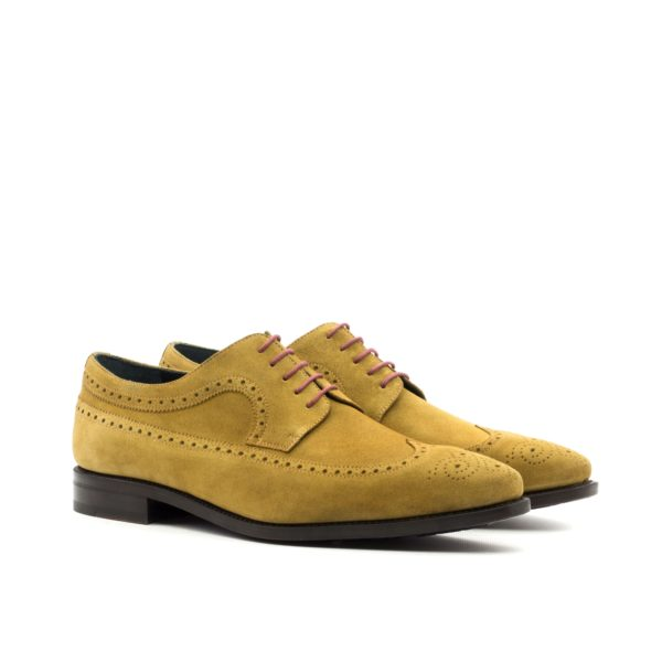 Suede Blucher Shoes VINCENT camel