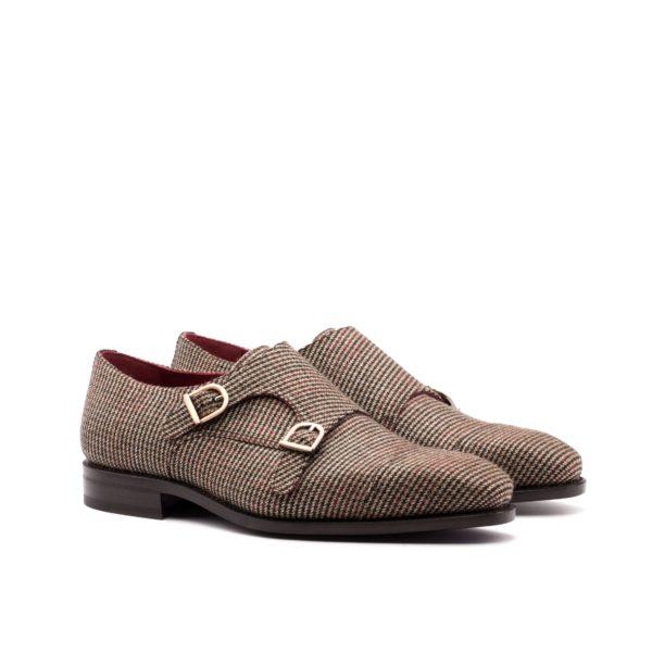 tweed Double Monk ZEPPA fabric monk shoes