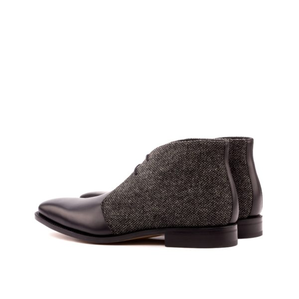 Chukka Boots black grey two tone PARKER rear