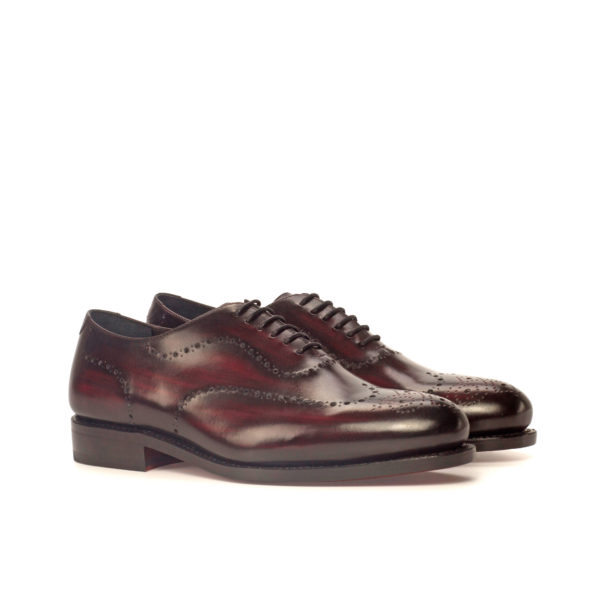 burgundy patina leather goodyear welted wholecut shoes DIXON