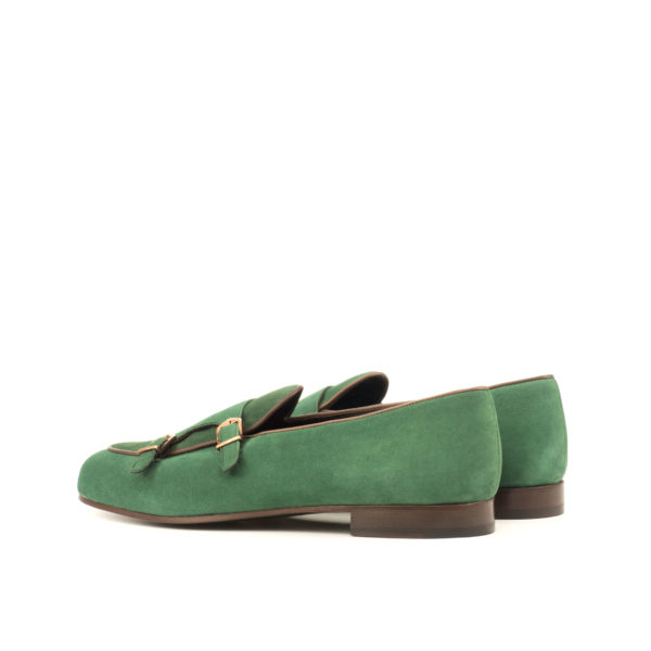 green suede Monk Slipper ENVY rear
