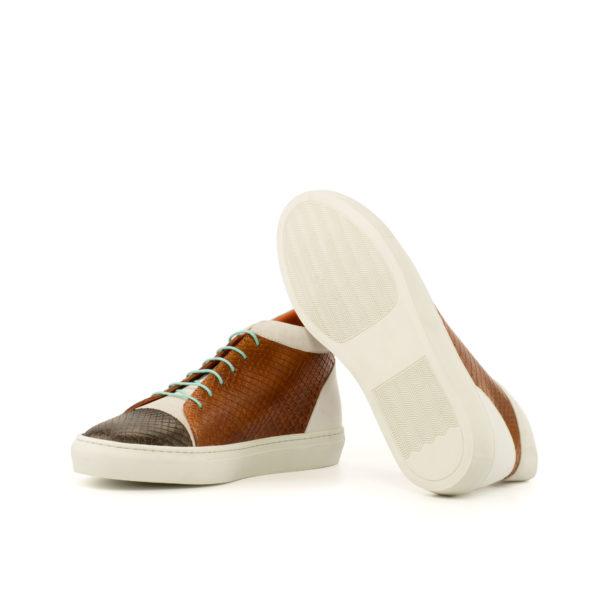 Snakeskin Hi Tops HEAT white rubber soles