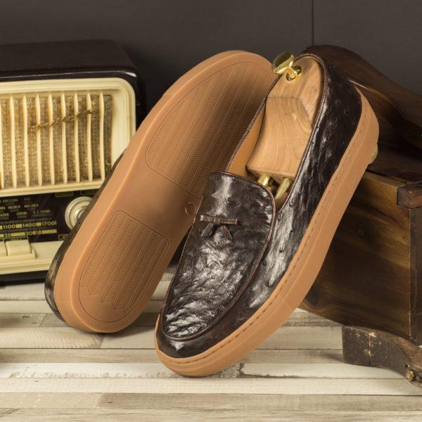 Brown Ostrich Sneaker HORACE insitu