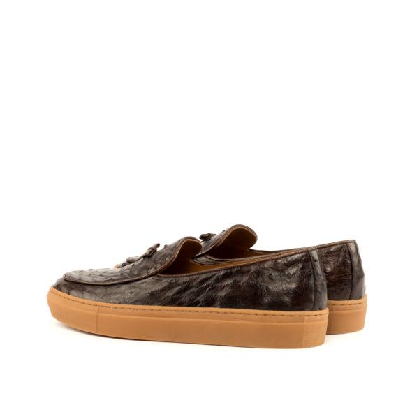 Rear view ostrich skin Belgian Sneaker HORACE