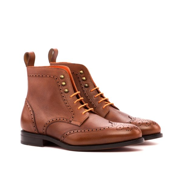 Brown Brogue Boots JIMMY military style