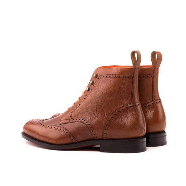 brown full grain leather Military Brogue boots JIMMY rear