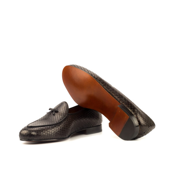 Python skin Belgian Slipper with fine leather soles OUTBACK