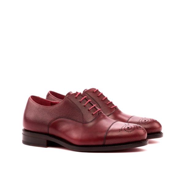 Burgundy plain full grain leather Oxford Shoes PICKWICK