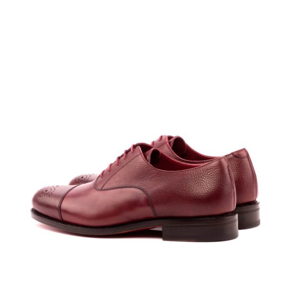 burgundy Oxford PICKWICK full grain leather rear