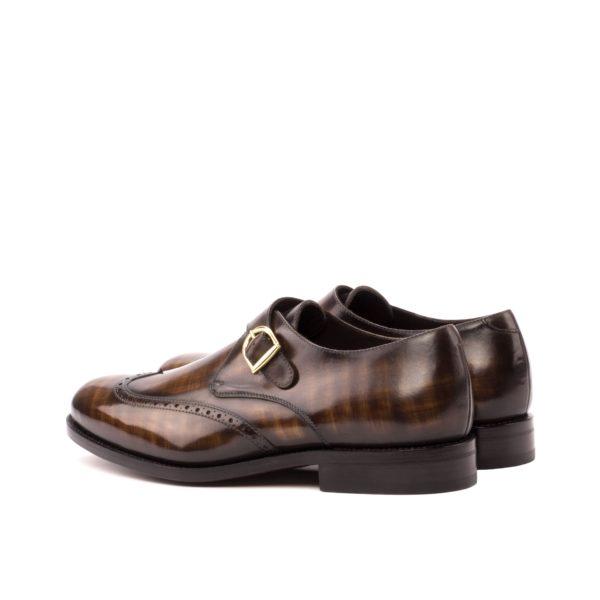 patina leather Single Monk shoe POTTER rear