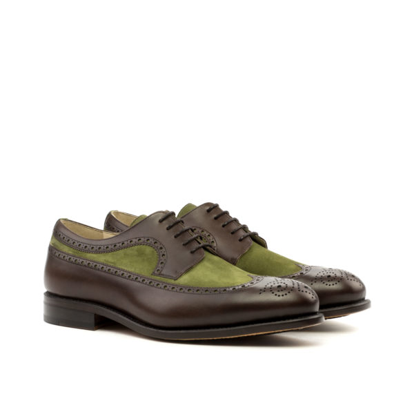 Leather suede contrast Blucher shoes RICHARD