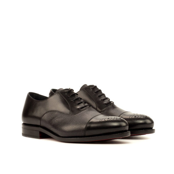 Black goodyear welted Oxfords STEERFORTH
