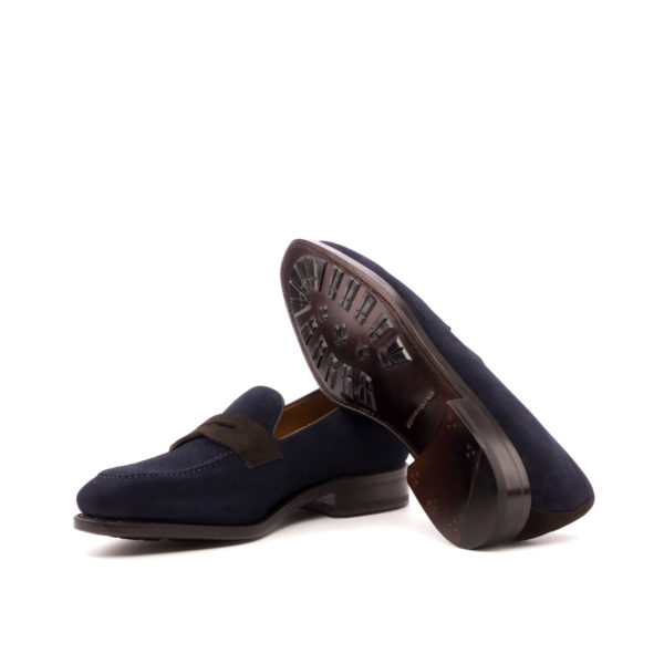 Suede Loafer Stephen navy and brown goodyear soles