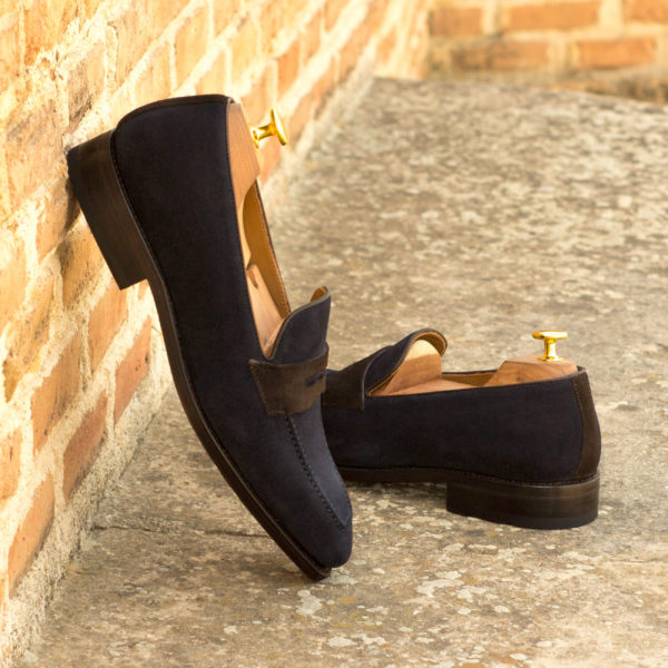 stylish navy Loafers suede Stephen insitu