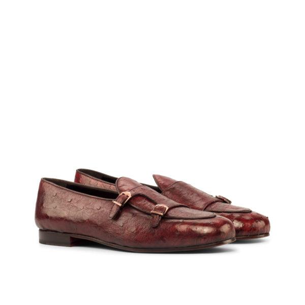 red ostrich double-Monk Slipper DANTE