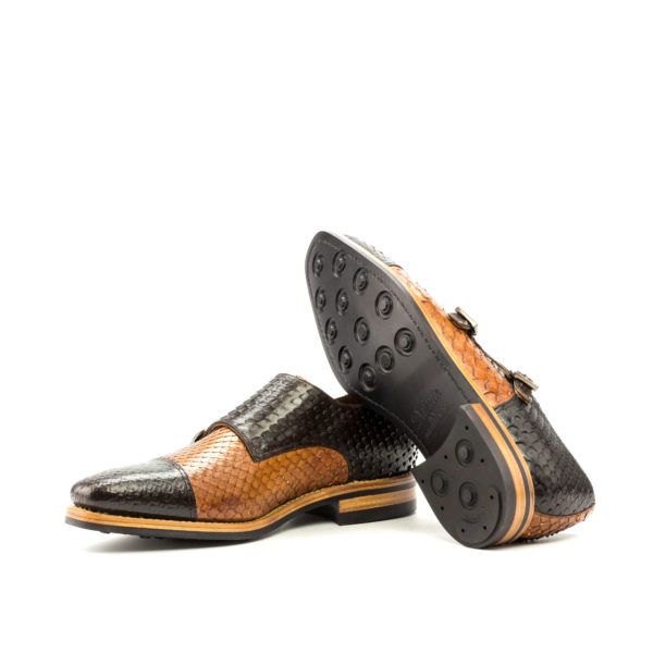 Double Monk COLLINS goodyear dainite rubber soles