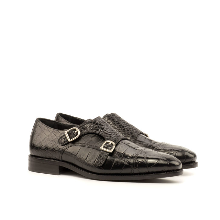 Alligator Double Monk Shoes MARQUIS