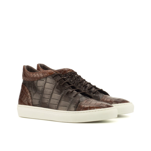 alligator Hi Top boots brown FLASH