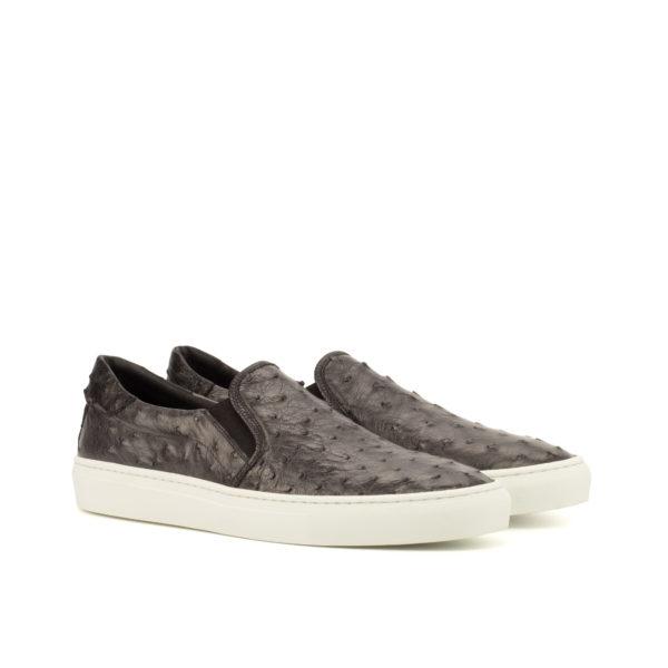 grey black ostrich Slip On Sneaker OTTO