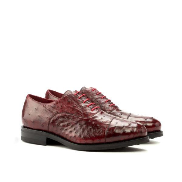 red genuine ostrich Oxford lace up shoes ROSST