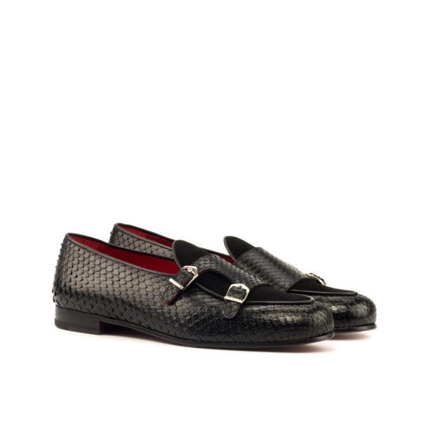 black python Monk Slippers RENNIE