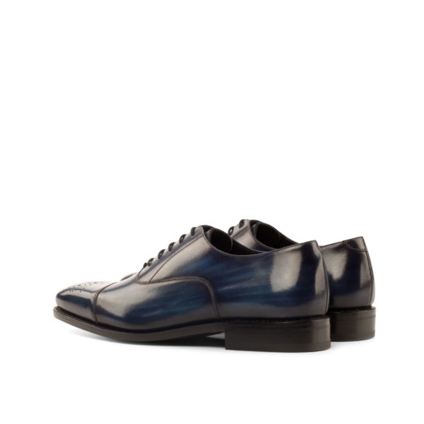 dark blue patina polished leather Oxford ALLEN rear