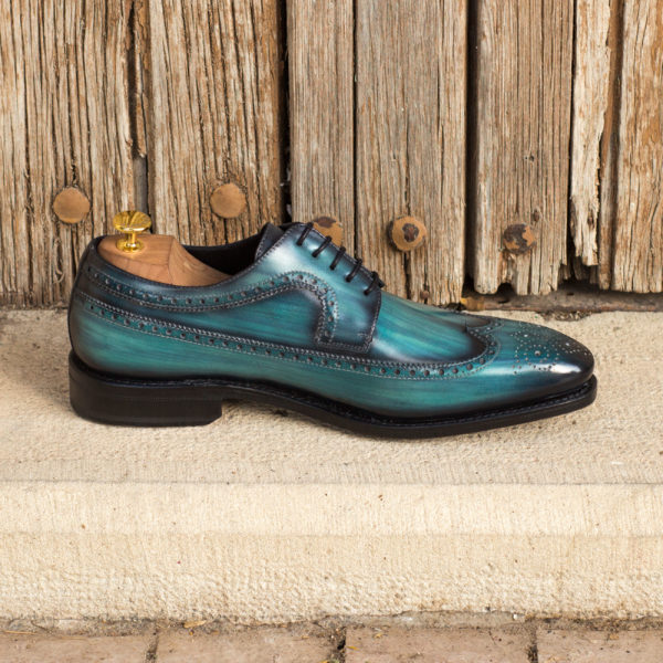 Longwing Blucher turqoise shoes ANTONIO insitu