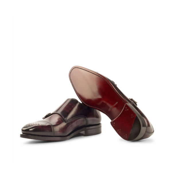 goodyear welted leather soles Double Monk BARZINI
