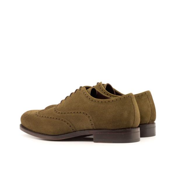 LANZARRO suede brogues shoes rear view