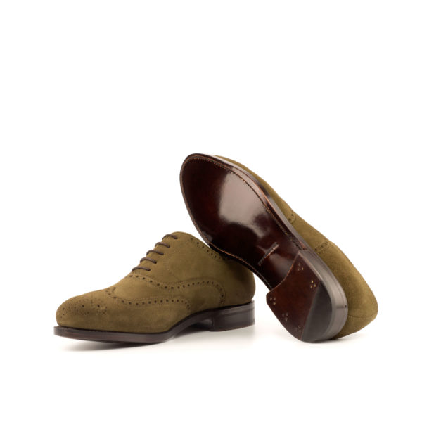 Suede Full Brogue Shoe LANZARRO goodyear welted leather soles