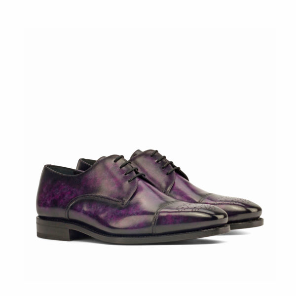 purple marbled patina leather Derby shoes LYNDON