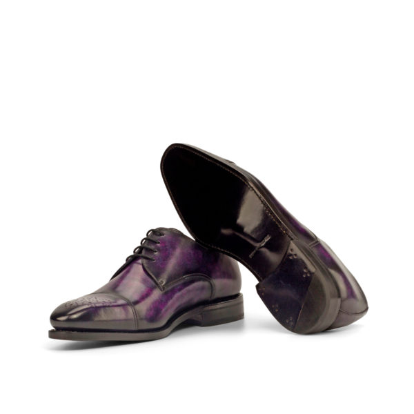 goodyear welted soles purple patina Derby shoes LYNDON