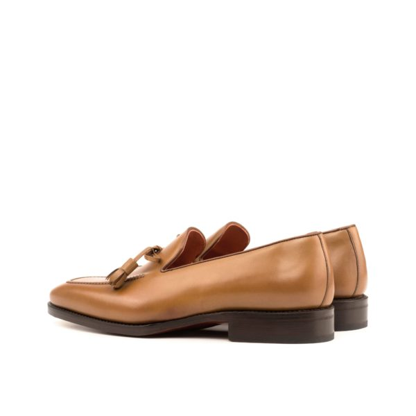 cognac leather Loafers ADELPHI rear