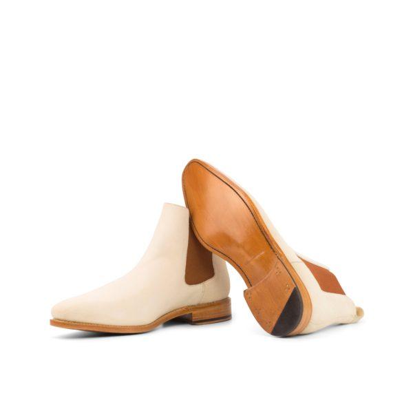 cream Chelsea Boot DENVER goodyear leather soles