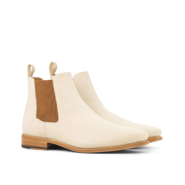 cream suede Chelsea Boots for men DENVER