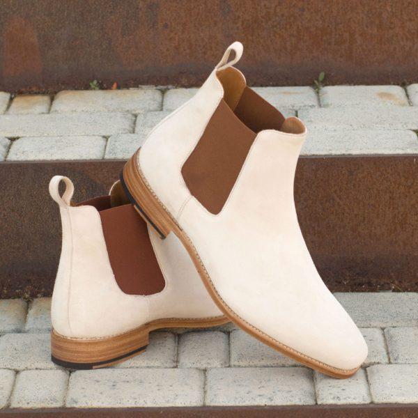 cream and brown mens Chelsea Boots DENVER insitu